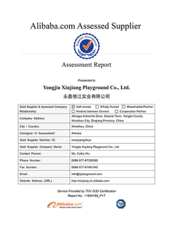 Indoor Playground equipment TUV Assessment Report