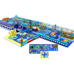 Ocean Theme Amusement Park Kids Indoor Soft Play Center with Eelectric Toys