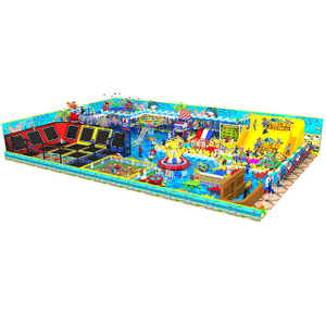Ocean Theme Amusement Soft Foam Indoor Playground with Trampoline