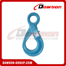 G100 European Type Eye Self-Locking Hook Lifting Equipment For Wire Rope Slings