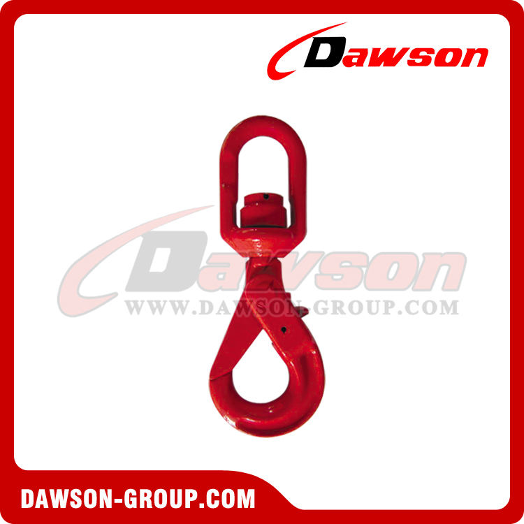 DS042 G80 Swivel Selflock Hook With Bearing for Lifting Chain Slings