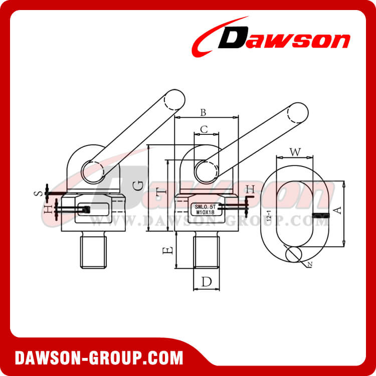 DS303 G80 LIFTING SCREW POINT dawson-group