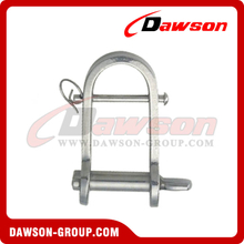 Stainless Steel Plate Dee Shackle with Cross Bar