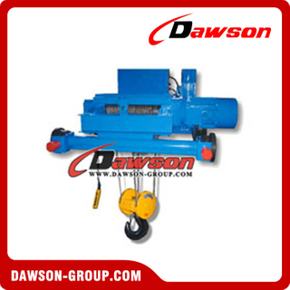 Light Double rail Trolley Single Hoist Electric Wire Rope Hoist