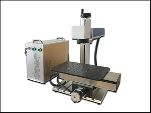 Moving table fiber laser engraving marking machine