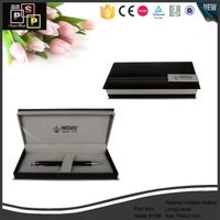 Black pu leather hand made luxury pen gift packing box