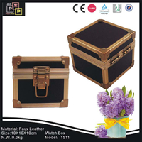 PU leather black single watch watch suitcase box