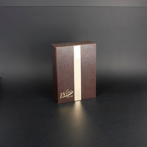 Wine Box Manufacturer faux leather wine glass boxes