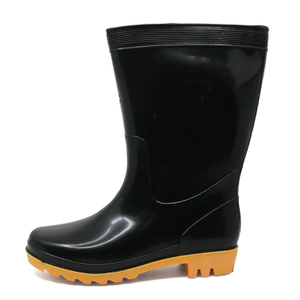 1.4 Dollar Very Cheap Oil Acid Resistant Water Proof Men Black Pvc Rain Boots