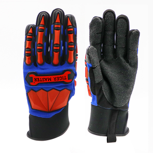 TPR impact resistant anti cut oil & gas industry mechanic gloves