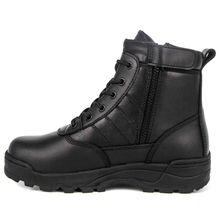 Ankle hiking full leather men military tactical boots 6123