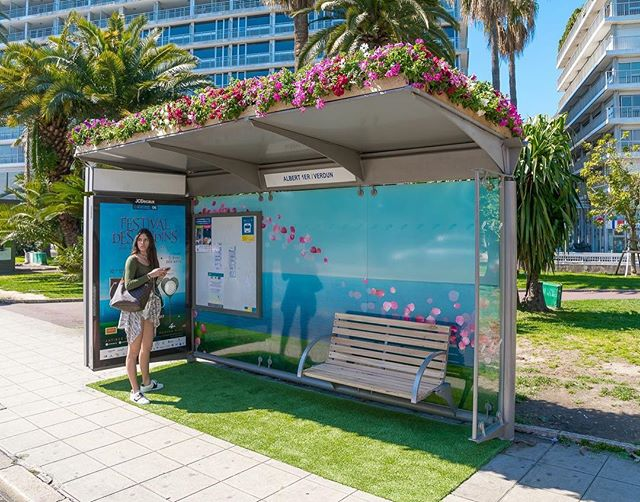 22.Spring is in the air with this beautiful bus shelter in Nice, France.