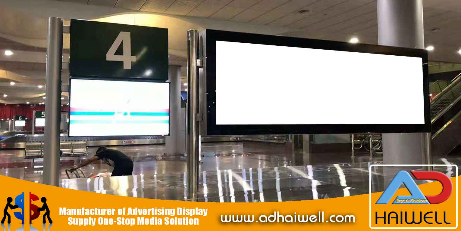 Scroller-Signage-LED-Light-Box-in-Mauritius-Flughafen