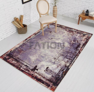 160×230 cm Anti-slip Bath Rug Print Floor Carpet