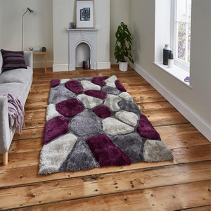 New Super Soft 3D Shag Carpet Dinning Room Area Rug