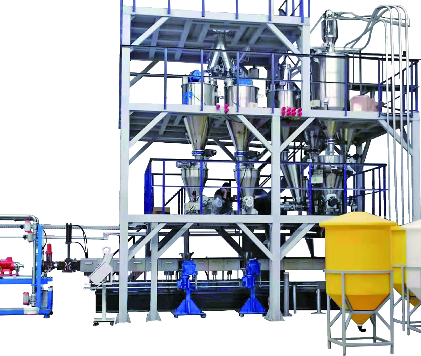 platform for underwater pelletizing system