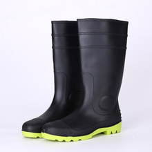Cheap safety gum boots with steel toe and steel plate