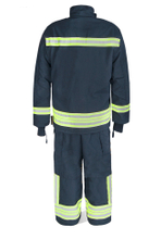 EN469 standard NOMEX fire fighting suit with reflective tape