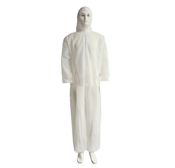 Waterproof disposable coverall with hood