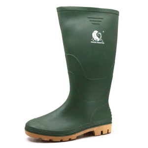 Green Non Safety Agriculture PVC Work Rain Boots for Men