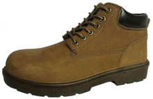 Nubuck safety shoes for working
