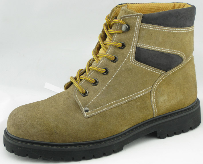 97013 suede leather goodyear welted boots with steel toe