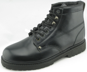 TL96004A corrected leather goodyear welted boots with steel toe