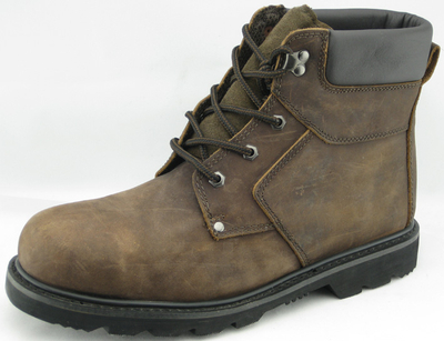 97055 crazy horse leather safety shoes