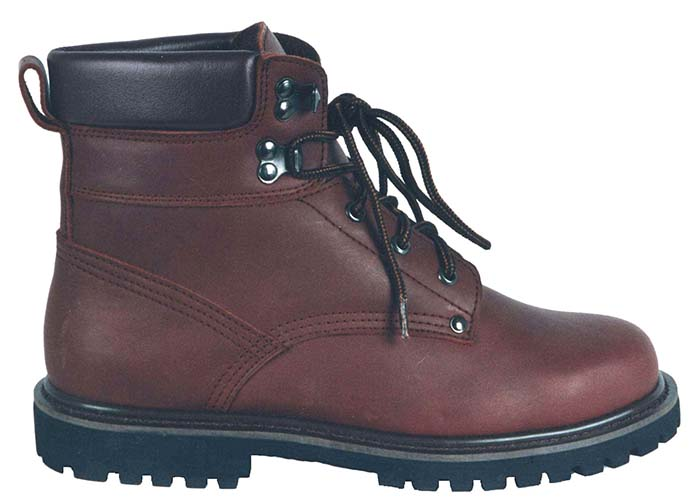 6 inch full grain leather man work safety boot