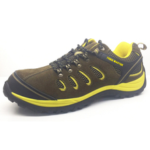 BTA06 PU Injection Suede Leather Fiber Glass Toe Hiking Men Safety Shoes