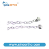 Extrusion Chain w/hook Stainless steel color