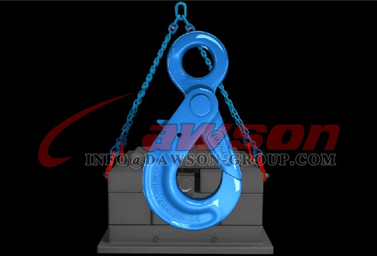Application of G100 Eye Self-Locking Hook, Forged Steel Eye Hook for Grade 100 Chains - Dawson Group Ltd. - China Manufacturer Supplier