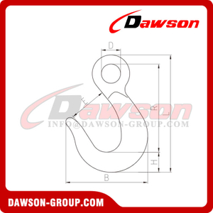 DS206 Forged Alloy Steel Large Eye Hook