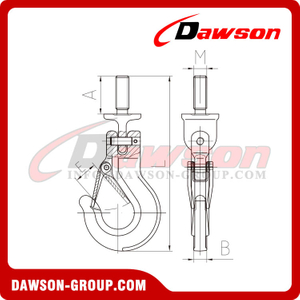 DS890 Clevis Sling Hook Components