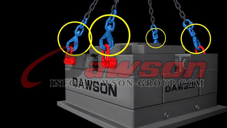 Application of Dawson Grade 100 Special Swivel Self-locking Hook with Grip Latch for Chain Slings - China Manufacturer
