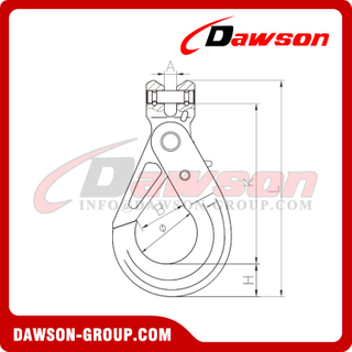 G80 / Grade 80 Clevis Self-locking Hook for G80 Lifting Chains