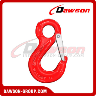 DS013 G80 Eye Sling Hook with Cast Latch for Chain Slings