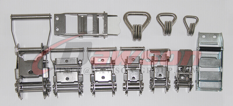 Stainless Steel Ratchet Buckles, Overcenter Buckles, Double J Hooks - China Supplier, Factory
