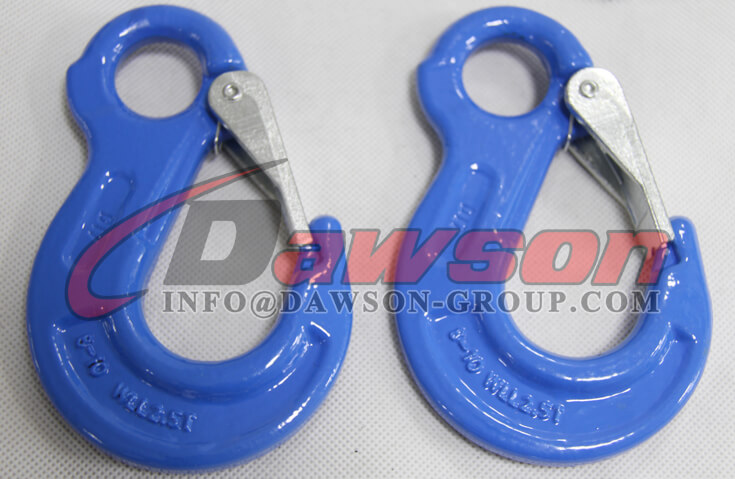 Grade 100 Eye Sling Hook with Latch for Chain Slings - Dawson Group Ltd. - China Manufacturer