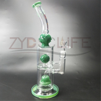 Glass Water Pipe for Spray Black Spiral Filter