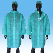 Disposable Nonwoven SBPP Lab Coat with Elastic
