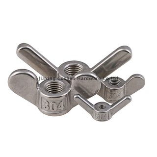 ANSI/ASME B 18.6.9 stainless steel self locking Wing nuts for bicycle wheels