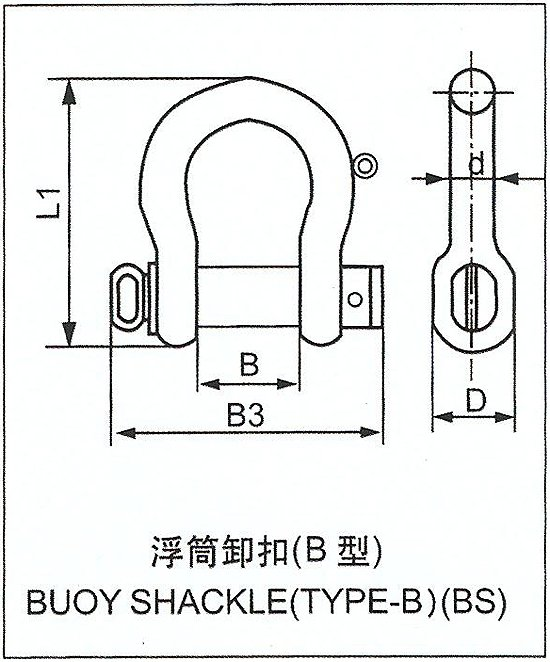 BUOY SHACKLE(TYPE-B)(BS)