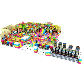 Candy Style Kids Commercial Indoor Playground Equipment with Handwork Area