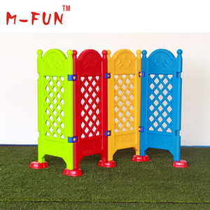 Plastic folding screen