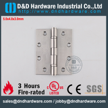 DDSS001-5x4x3.0mm-Grade316 UL R38013 Durable Fire Rated 2 Ball Bearing Hinge for Wood Door