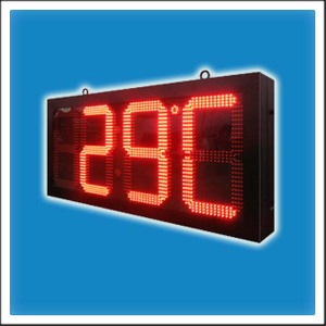 16 Inches Outdoor LED Digit Display Playing Time & Temperature