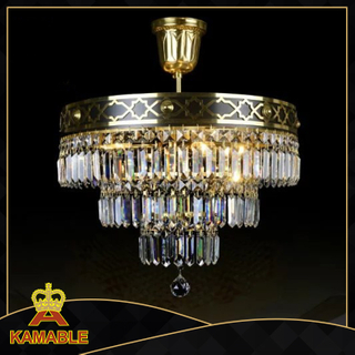 Graceful Crystal Brass Ceiling Lamp (TX-0876-4)