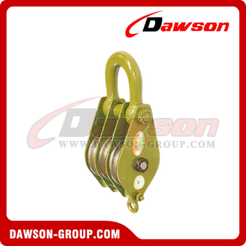 DSPB-F3 Hook(Chain Link) Series Closed Triple Wheels Pulley