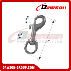 Stainless Steel Swivel Bolt Snap Hook